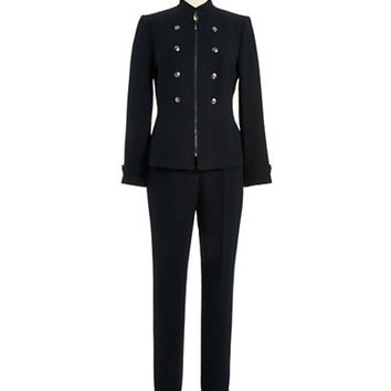 Tahari Arthur S. Levine Military Inspired Two Piece Suit