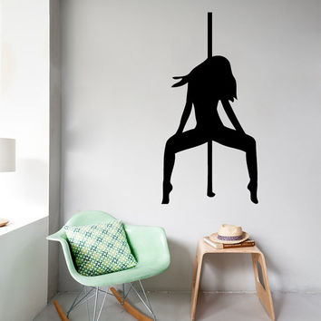 Wall Decals Girl Pole Dance Fashion People Beauty Salon Home Vinyl Decal Sticker Kids Nursery Baby Room Decor kk443