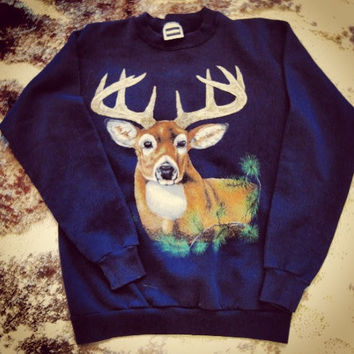 Deer crew neck sweatshirt like thrift shop macklemore