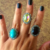 Set of Vintage Style Adjustable Rings / Statement Rings /