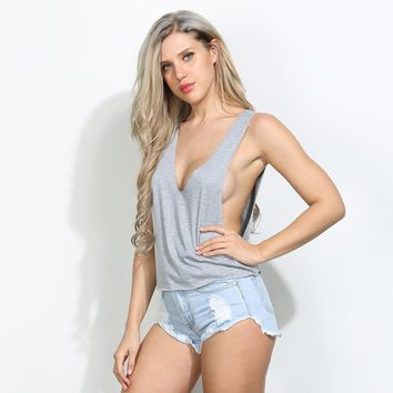 2017 Summer 100%  Short Vest Crop top Tank Top Bralette Sexy Solid cropped feminino halter top workout singlet women