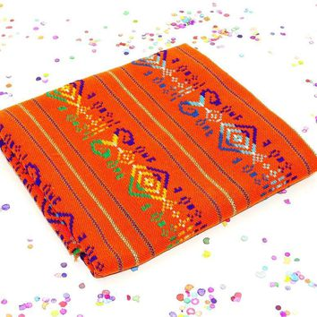 Tribal fabric by the yard, Mexican party decorations, Tela mexicana.