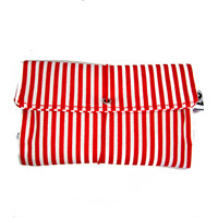 Red stripes Tobacco pouch, red white smoke bag, red white stripes print, heavy weight cotton fabric pouch, england football fan gift for men