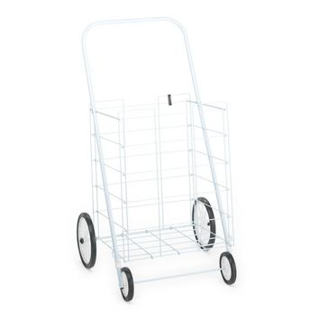 Homz 4-Wheel Large Tote Cart, White