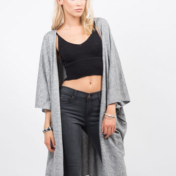 Oversized Soft Poncho Cardigan