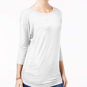 Planet Gold Juniors' Ruched Dolman-Sleeve Top - Juniors Surprise Specials - Macy's