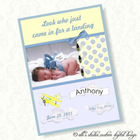 Baby Birth Announcement DIY 5x7 Print It Yourself / by AllisStudio