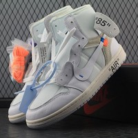 Best Deal Online OFF-White x Nike Air Jordan 1 Men Sneakers