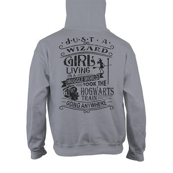Harry Potter- JUST A WIZARD GIRL -Unisex Hoodie  - SSID2016