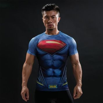 Superman Blue Compression Shirt