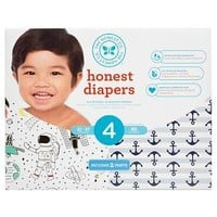 Honest Company Club Pack Diapers, Space + Anchors & Stripes - Size 4 (60 ct)