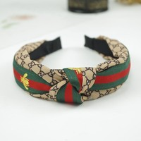GUCCI Bees Headwrap Headband Wide Hair Bands
