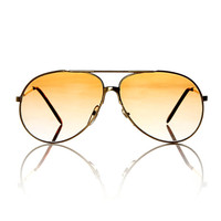 Gold Unisex Aviator Frame Tom Sunglasses X American Deadstock