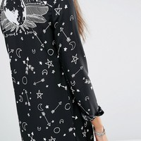 Noisy May Tall Printed Longline Kimono at asos.com