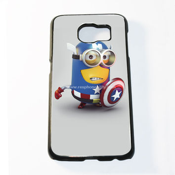Captain America Minions Samsung Galaxy S6 and S6 Edge Case