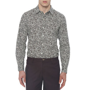 Leopard Print Slim Fit Casual Shirt
