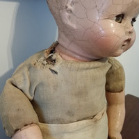Vintage Soft Body Composition Head Arms Legs Doll Creepy Display Decor Altered Art Oddity Collection