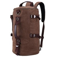 Juice Action Men's Canvas 15 Inch Laptop Bag Crossbody Shoulder Travel Backpack Coffee