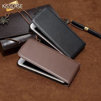 KISSCASE Flip Leather Phone Case For iPhone 5 5S SE 7 6 6s Plus Case Magnetic Vertical Plain Cases For iPhone 8 7 6 5S SE 4 Capa