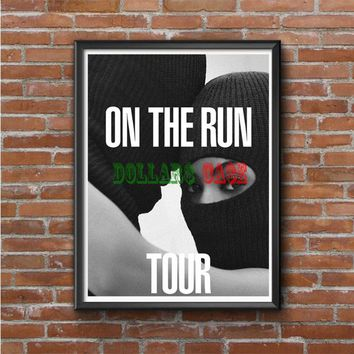 Jay-Z And Beyonce On The Run Tour 2 Photo Poster