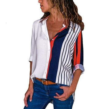 Button Up Long Sleeve Shirt Women
