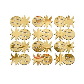 Awesome 12pcs 3D Pineapple Room wall sticker Decoration and we will drop ship to you!