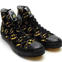 "NEW CONVERSE BATMAN SHOES ""Japan Limited"" Black Rare High Top Sneaker Comic"