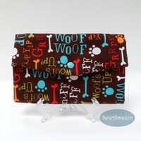Woofs Up Dog Lovers Trifold Fabric Wallet
