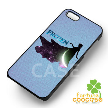 Disney frozen princess elsa moon silhouette -end for iPhone 6S case, iPhone 5s case, iPhone 6 case, iPhone 4S, Samsung S6 Edge