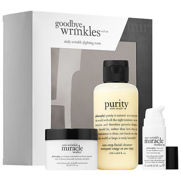 Miracle Worker Goodbye Wrinkles Trial Set - philosophy | Sephora