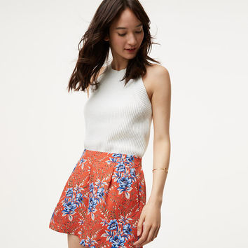 Floral Pleated Shorts | LOFT