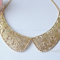 Golden Tone necklace, Fake collar necklace NFK01