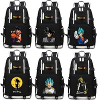 Hot Anime Dragon Ball Z Backpack Cosplay Dragon Ball Super Son Goku Canvas Bag Super Saiyan Schoolbag Travel Bags