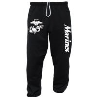 US Marines USMC Sweatpants Black Small