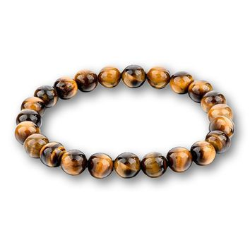 Multicolor Beads Bracelets Natural Lava Tiger Eye Stones Beaded Bangle Jewelry Gifts Fashion Accessories Bracelet for Men Women