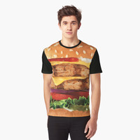 'Burger Layers' Graphic T-Shirt by FlyNebula