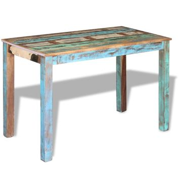 "Dining Table Solid Reclaimed Wood 45.3"" x 23.6"" x 30"""