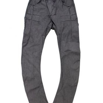 Coated Cotton Jeans W/Bow Leg
