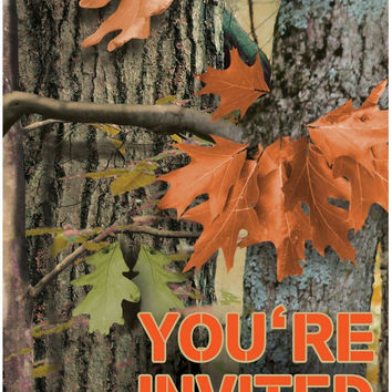 Hunting Camo Invitations