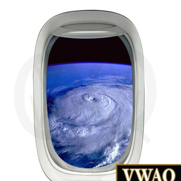 Aerial Hurricane View Vinyl Decal Atmosphere Wall Mural Peel and Stick Decor PW9