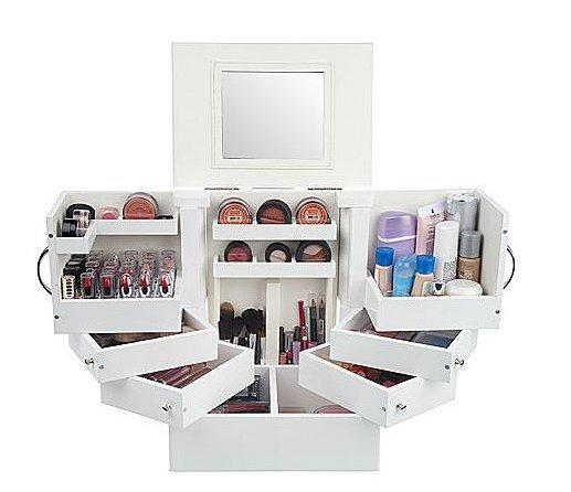 Luxury Deluxe Wood Cosmetic Box W Mirror From Qvc Vanity