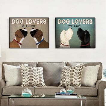 Vintage Posters and Prints Dog Lover Beagle Dachshund Wall Pictures for Living Room Home Decor Canvas Prints Wall Art Retro