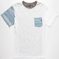 Volcom Hank Block Mens Pocket Tee White  In Sizes