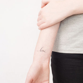inspiring calligraphy temporary tattoo- choose one inspirational text