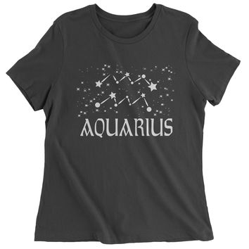 Aquarius Zodiac Star Chart  Womens T-shirt