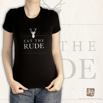 "Hannibal t-shirt  / "" eat the rude "" / Fannibals"
