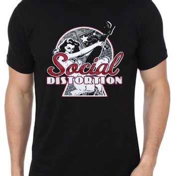 SHIRT SOCIAL DISTORTION Vintage 1979 Printed Men's Punk Rock Band Retro T Shirt (S-XXXL)