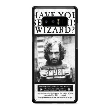 Sirius Black Wanted Poster Samsung Galaxy Note 8 Case