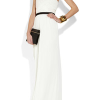 Jason Wu | Leather-paneled jersey gown | NET-A-PORTER.COM