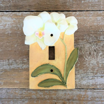 Light Switch Cover Single Decorative Light Switch Cover Flower Light Switch Plate Floral Single Light Switch Cover Home Improvement